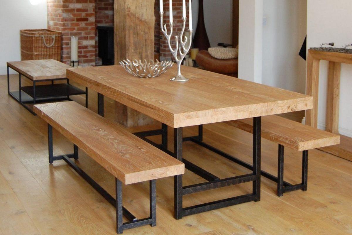 Metal Rectangular Table and Bench Bases